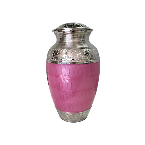 Pink and Silver Adult Urn