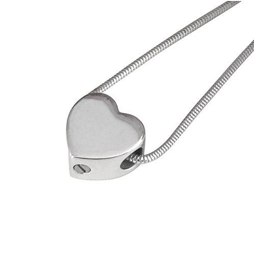 Heart Bead - Silver