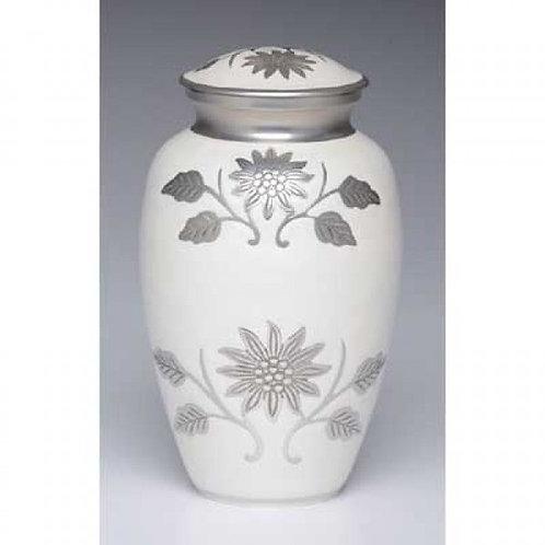 Floral White Adult Urn Adult