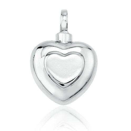 Double Heart - 925 Silver