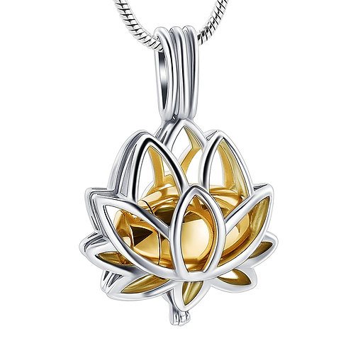 Lotus Urn Pendant with Snake