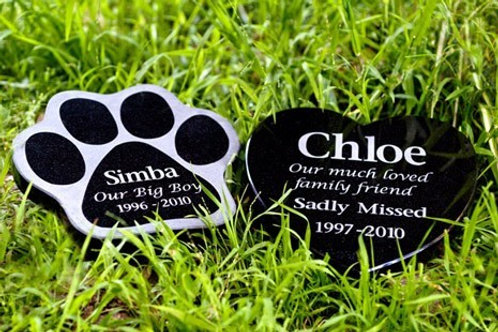 Shaped Granite Plaque Pet Memorial