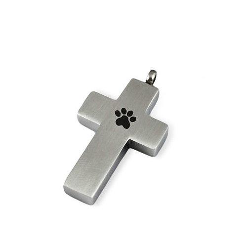 Paw Print Cross Urn