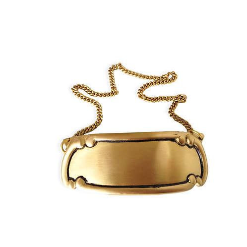 Brushed Brass Name Tag