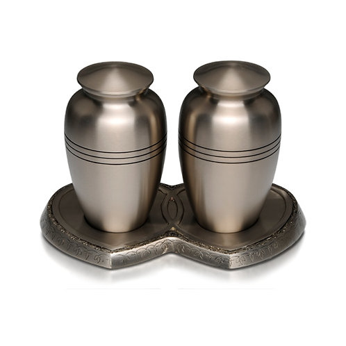 Pewter Double Urn
