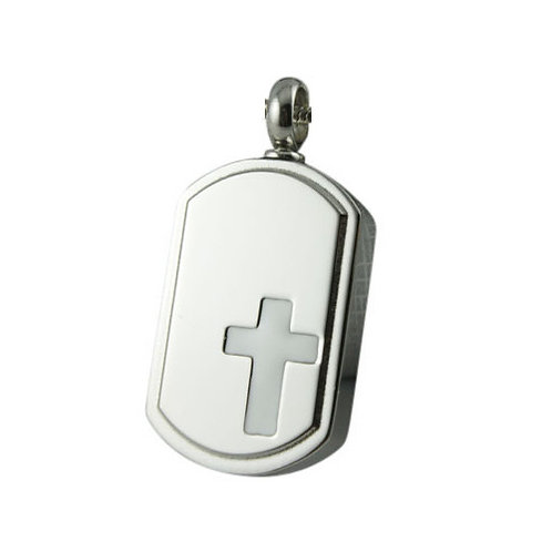 Engraved Cross Urn