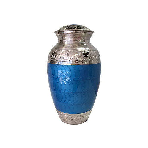 Blue and Silver Adult Urn