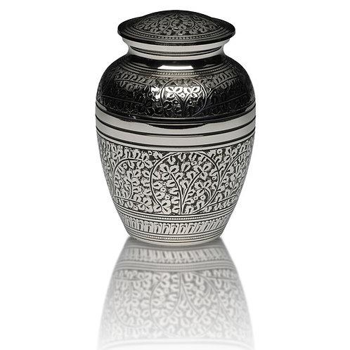 Silver Acorn Leaf Urn