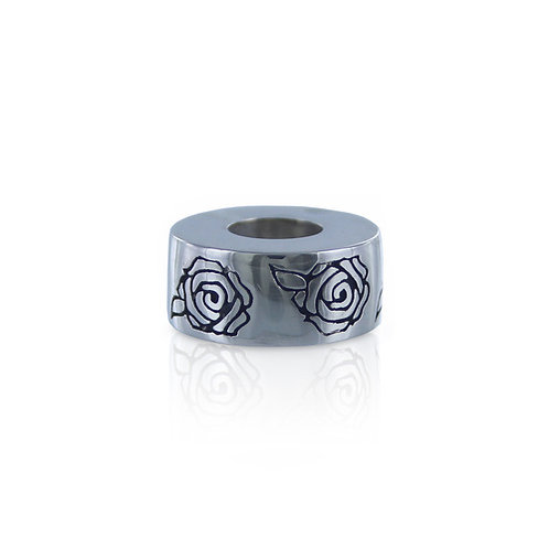 Roses Bead - Silver