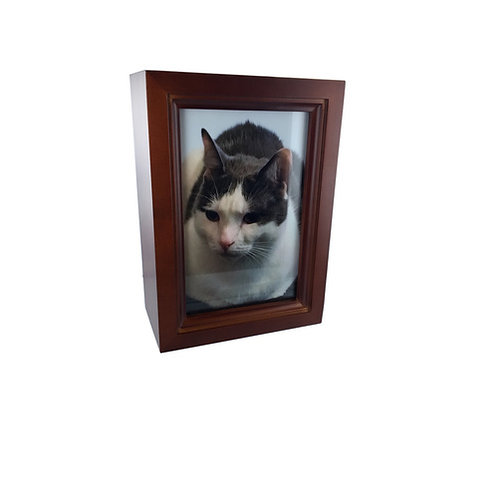 Pet Wooden photo Urn- Small