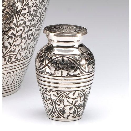 """Silver Acorn Leaf Urn 3"""""""