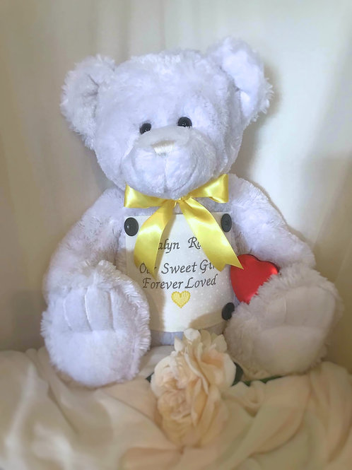 The White Extra Large Teddy Bear Urn - made to order