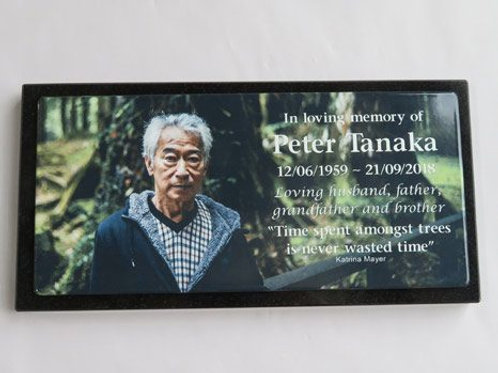 Photo Enamel Stainless Steal  Memorial Plaque