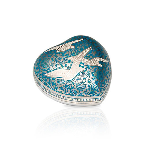 Birds in Flight Heart Urn
