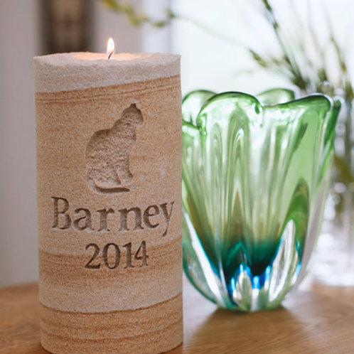 Sandstone Pet Memorial Pilar Candle