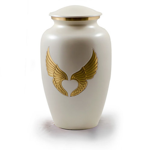 Gold Angel Wings Urn Adult