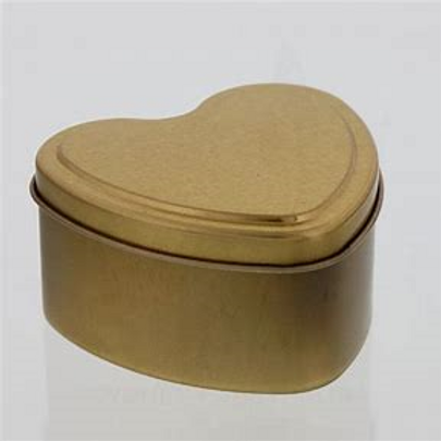 Heart Shape Tin Urn