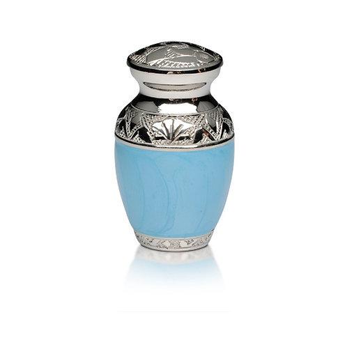 Blue and Silver Keepsake Urn