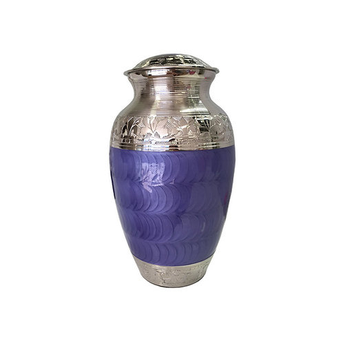 Purple and Silver Adult Urn