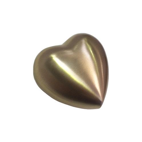 New Puffed Shape- Brushed Brass Keepsake Heart - S