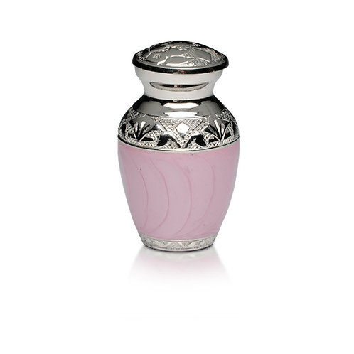 Pink and Silver Keepsake Urn