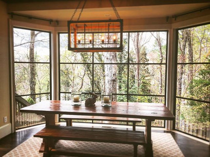 Another view from inside! #elitemetalworksinc #asheville #avl #cashiers #highlands #wnc #ashevilledesign #ashevilleinterior #ashevilleinteri