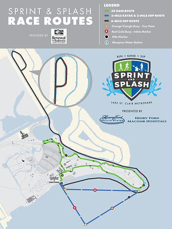 Sprint and Splash Race Route A-Frame sig