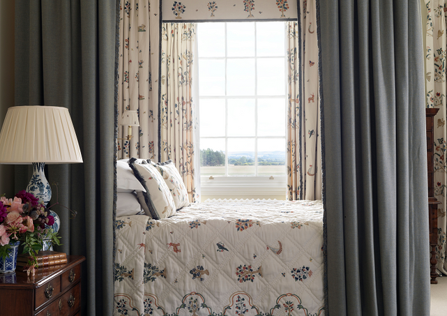 Chelsea Textiles.    An exquisite,  sophisticated  bedroom