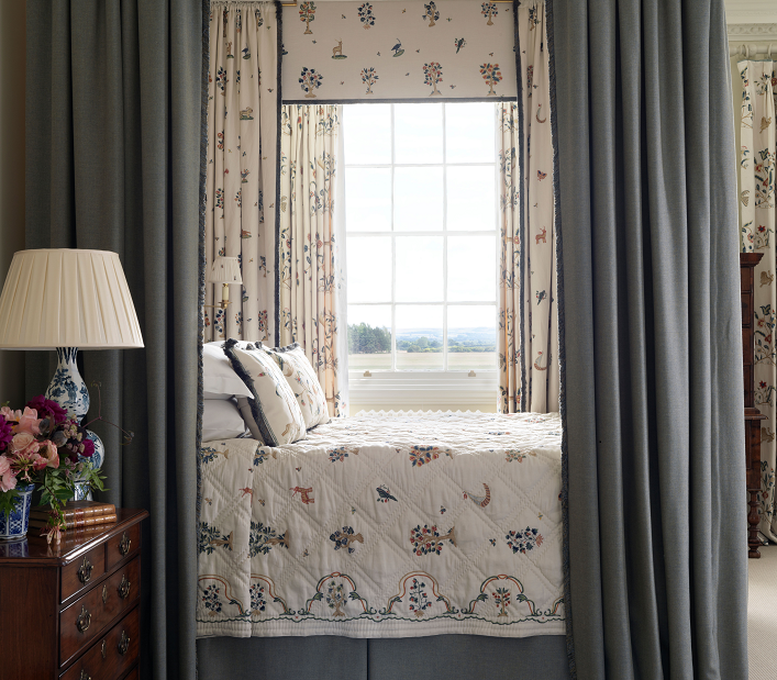 Chelsea Textiles    An exquisite,  sophisticated  bedroom