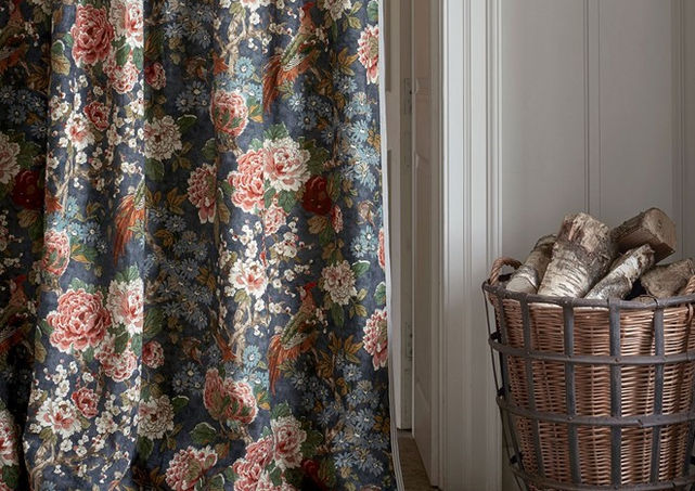 Colefax & Fowler           We love using curtains in doorways for practical  reasons and to add another layer of warmth to a room