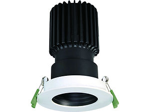 ▪ 9W light engine (650 lumens) ▪ 15W light engine (1050 lumens) ▪ Fixed baffled anti-glare bezel ▪ 2700K, 3000K or 4000K  ▪ Optic 20°, 40°, 55° ▪ White & Black finish ▪ 88mm Ø Bezel ▪ 75mm Ø cut out ▪ CRI80 CREE light engines ▪ LED lifetime @ 50,000 hours ▪ High efficiency ▪ Low power consumption ▪ No UV or IR ▪ Compatible with fixed output, mains dimming and DALI dimming systems