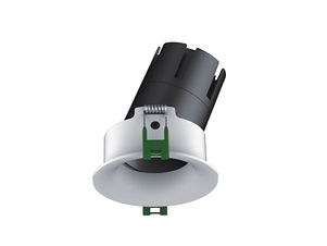 ▪ Performance downlight ▪ 9W light engine (700 lumens) ▪ 15W light engine (1250 lumens) ▪ Adjustable 23° ▪ 2700K, 3000K or 4000K  ▪ Optic 15°, 24°, 38°, 55° ▪ White or Black finish ▪ Soft feather edge bezel trim ▪ 88mm Ø Bezel, 75mm Ø cut out out ▪ CRI90 light engines ▪ Global Optical Control enabling 26% more light output ▪ Glare control ▪ IP20 ▪ LED lifetime @ 50,000 hours ▪ High efficiency ▪ Low power consumption ▪ No UV or IR ▪ Compatible with fixed output, mains dimming and DALI dimming systems