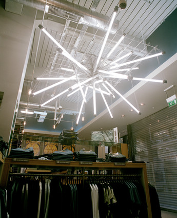 'Snowflake Explosion' - Bespoke feature light, Fashion retailer, Metro Centre Gateshead
