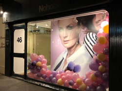 Pop-up shop window