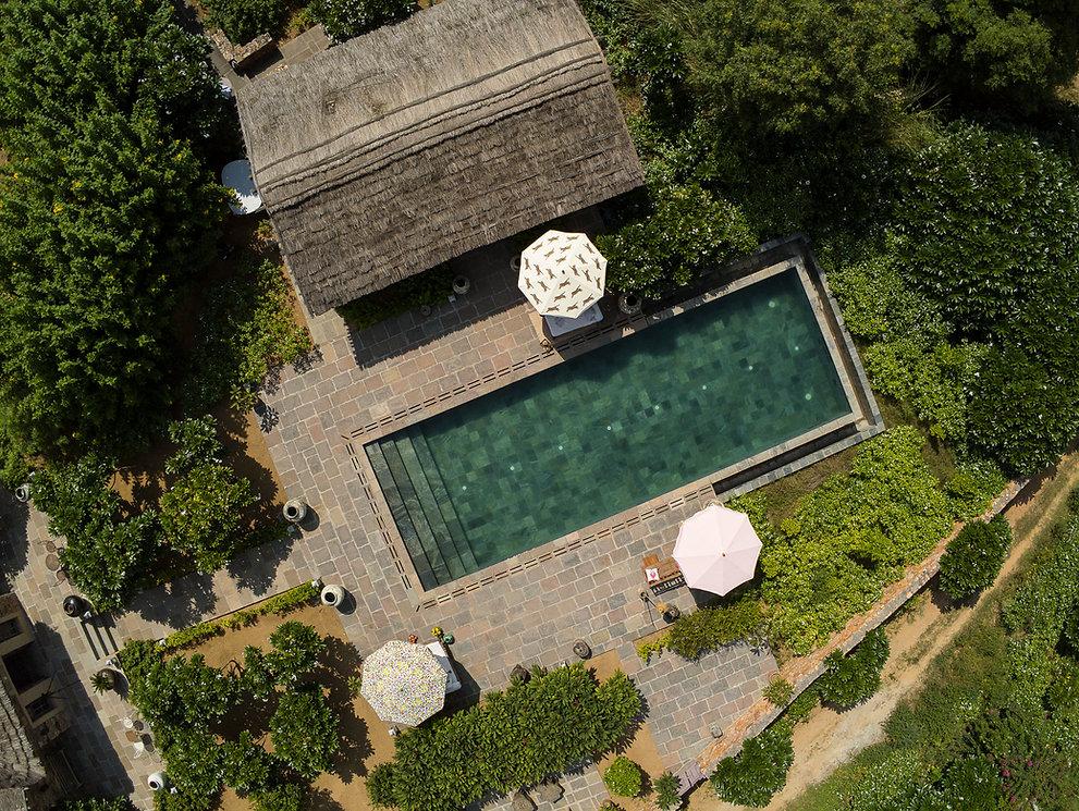 Anopura main pool and Tabari drone view.