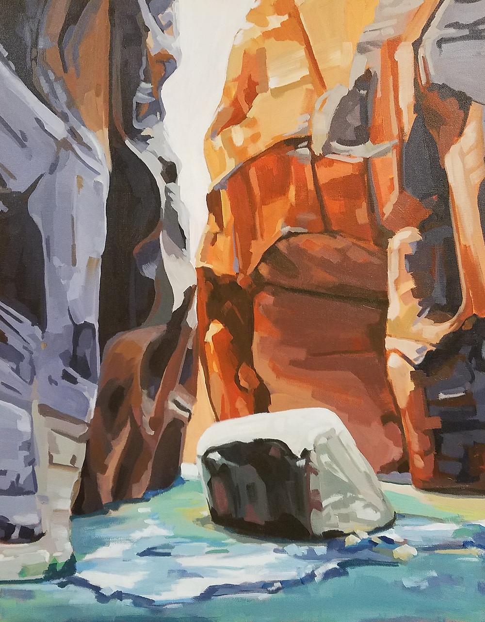zion narrows painting danika ostrowski