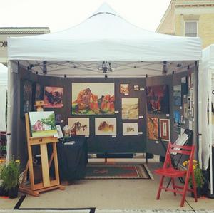 bryan art festival danika ostrowski art booth