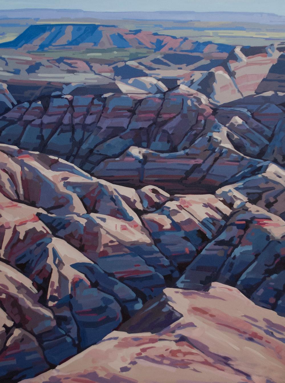 big foot pass badlands painting ostrowski