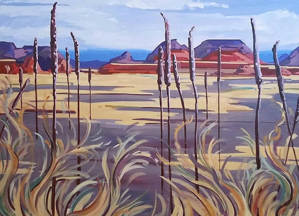 badlands landscape painting