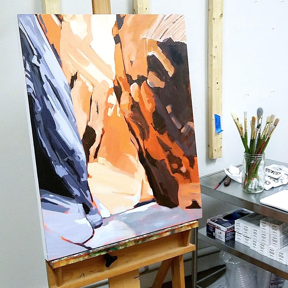 painting in progess studio shot danika ostrowski
