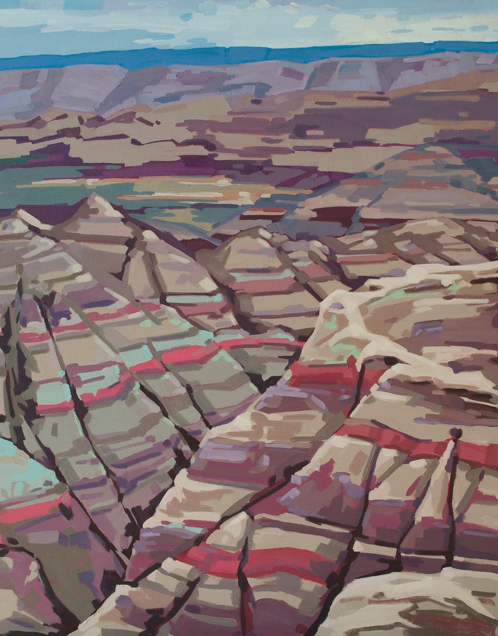 big badlands painting ostrowski