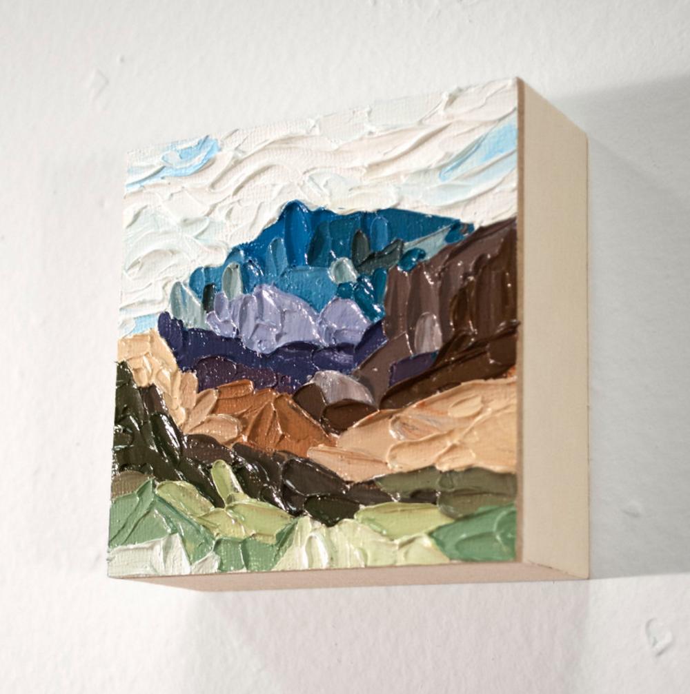 tiny impasto painting danika ostrowski