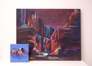 colorful landscape paintings danika ostrowski