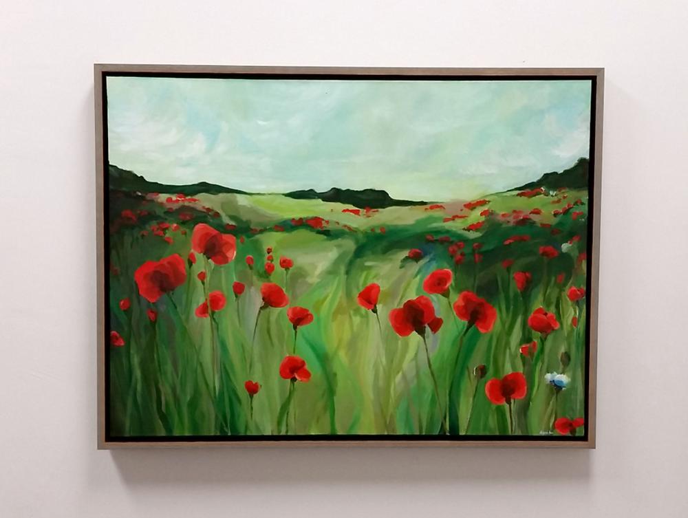 poppies commission painting danika ostrowski