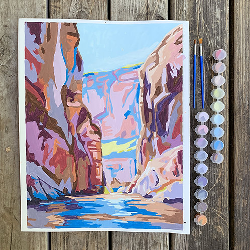 Paint-By-Numbers: Santa Elena Canyon (20 colors)