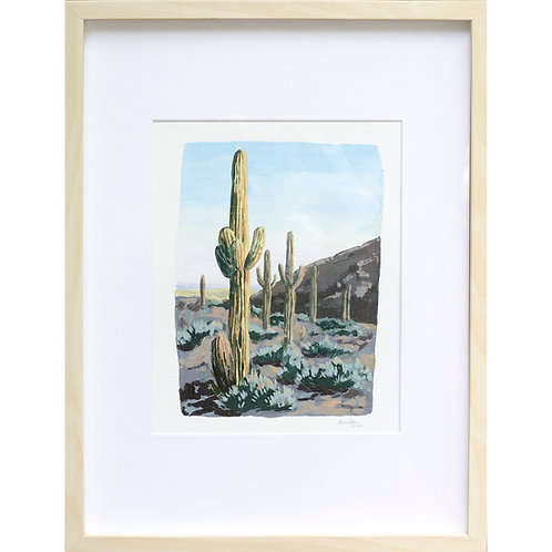 Saguaros on Paper
