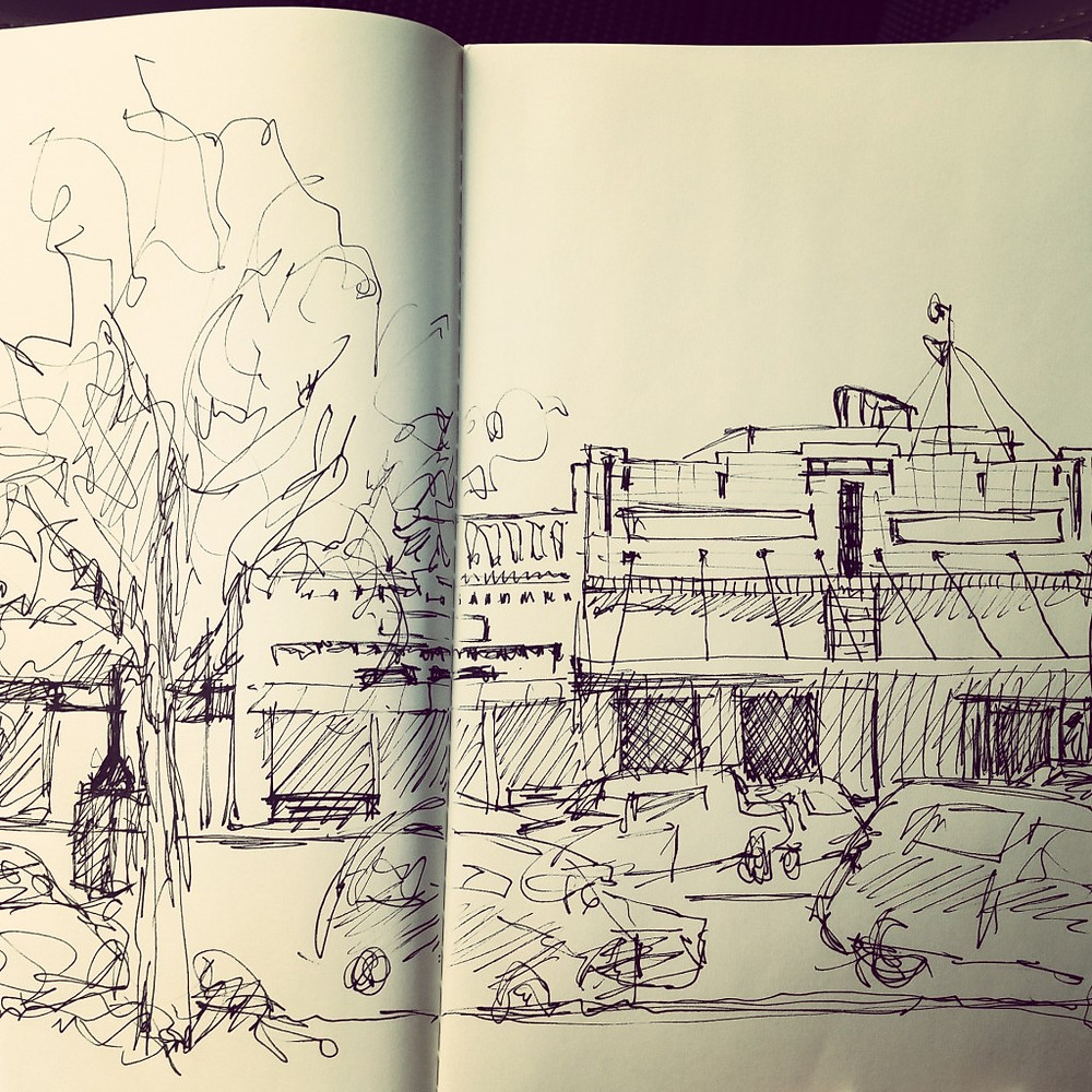 smalltown texas sketch