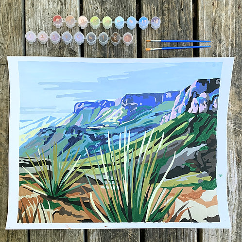 Paint-By-Numbers: Chisos Mountains (26 colors)