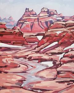 door trail badlands painting ostrowski