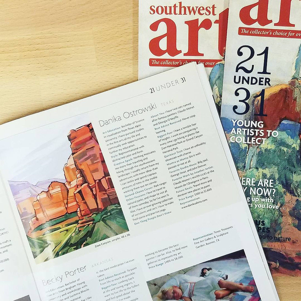 southwest art magazine danika ostrowski